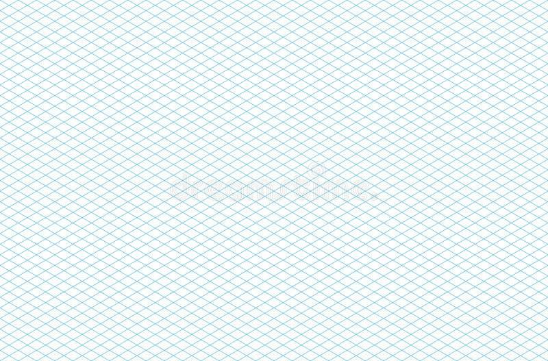 Teste padrão de grade isométrico sem emenda do molde ilustração stock