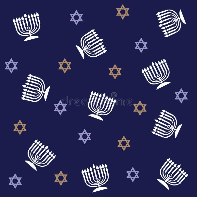Teste padrão de Hanukkah ilustração stock