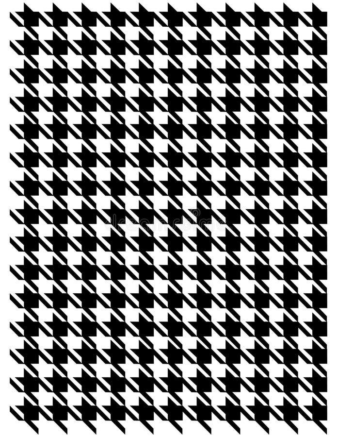 Teste padrão de Houndstooth ilustração do vetor