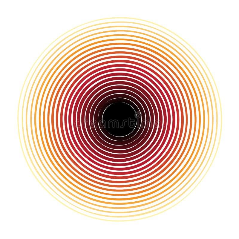 Teste padrão de intervalo mínimo do círculo ilustração do vetor