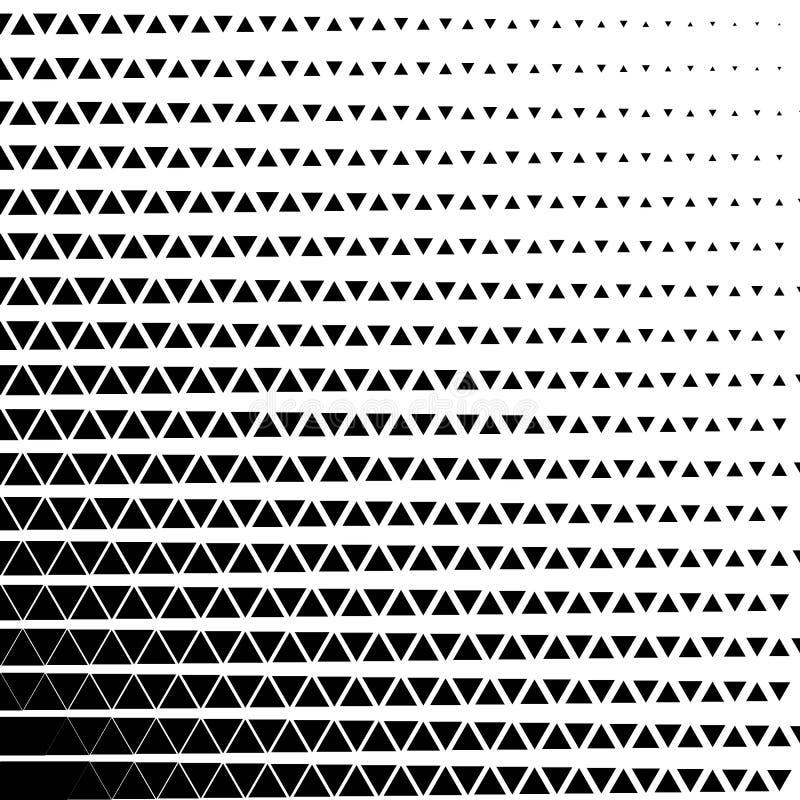 Teste padrão de intervalo mínimo do triângulo da cópia preto e branco geométrica abstrata do projeto gráfico Ilustração do vetor ilustração royalty free