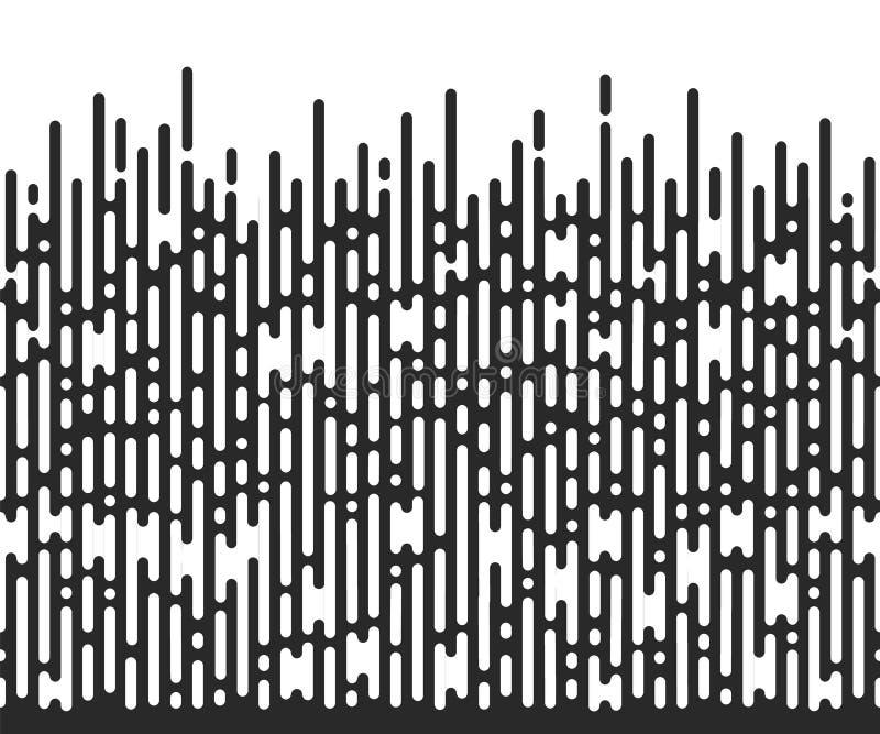 Teste padrão de intervalo mínimo sem emenda do vetor Fundo abstrato preto e branco ilustração stock