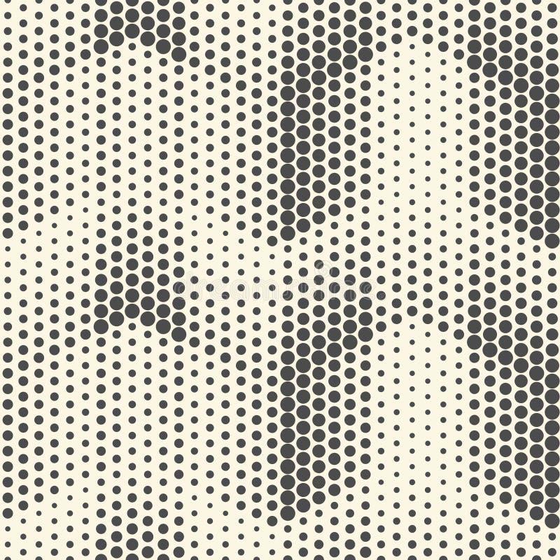 Teste padrão de intervalo mínimo sem emenda Parte traseira geométrica preto e branco do vetor ilustração royalty free
