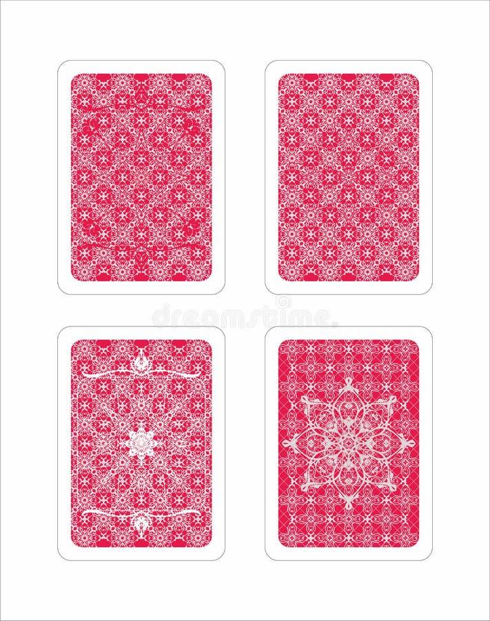 Teste padrão de jogo do cartão do jogo ilustração royalty free