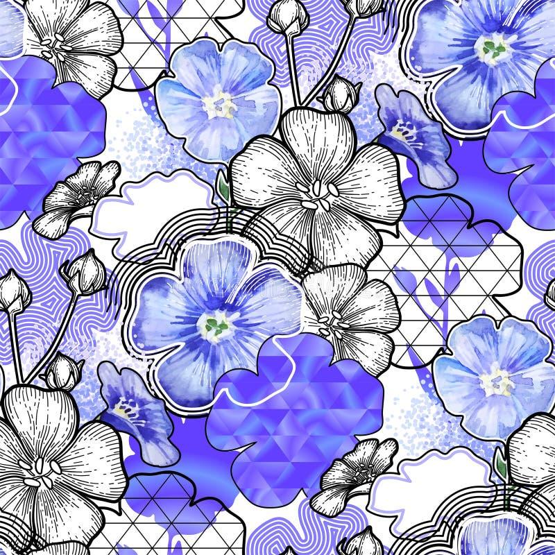 Teste padrão de linho combinado ilustração stock