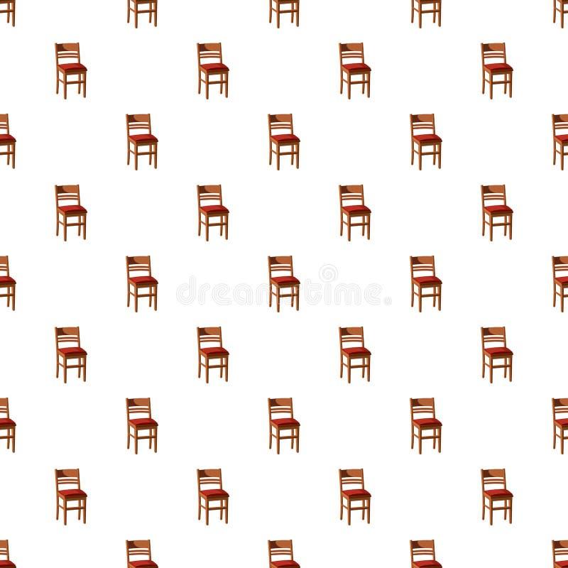 Teste padrão de madeira da cadeira ilustração stock