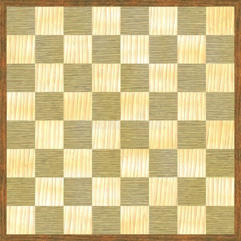 Teste padrão de madeira do tabuleiro de xadrez de madeira ilustração royalty free