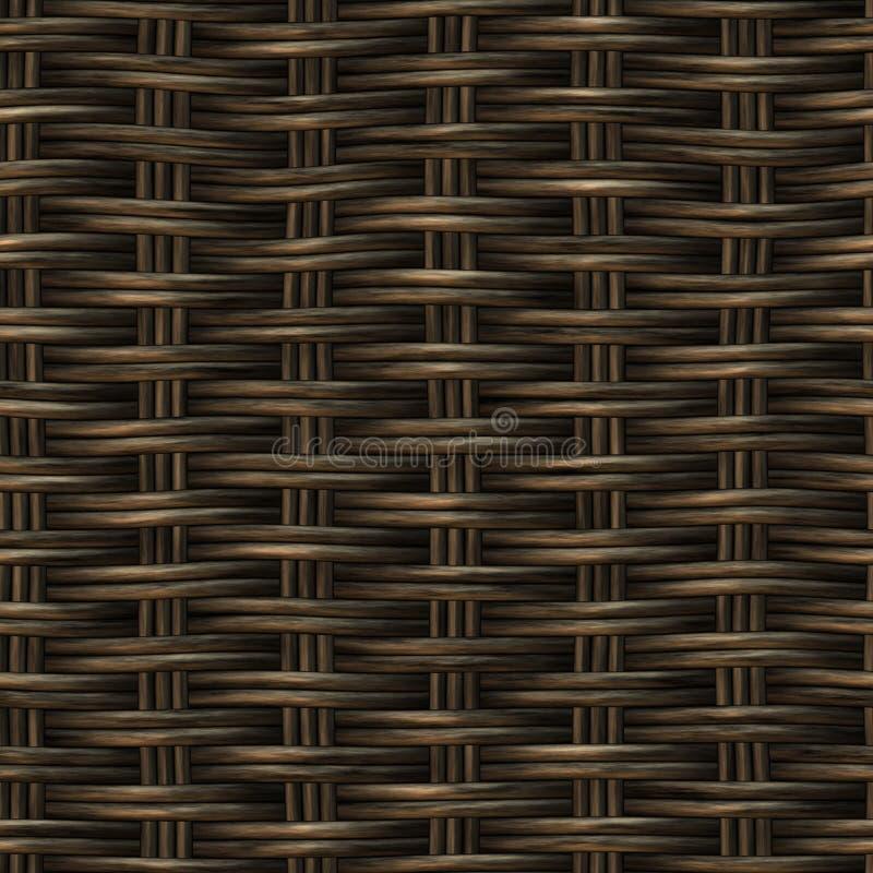 Teste padrão de madeira do Weave da cesta sem emenda da quadriculação fotografia de stock royalty free