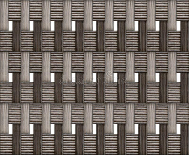 Teste padrão de madeira entrelaçado do bloco da textura resistido no eco rústico do apoio da base do projeto do fundo branco natu ilustração stock