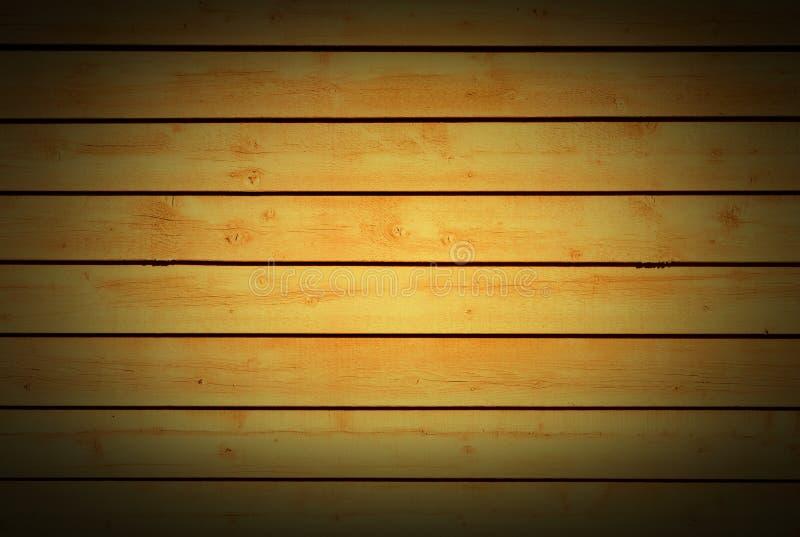 Teste padrão de madeira natural da textura de madeira alaranjada amarela horizontal do fundo das pranchas imagem de stock