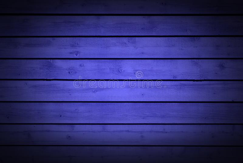 Teste padrão de madeira natural da textura de madeira azul horizontal do fundo das pranchas fotos de stock