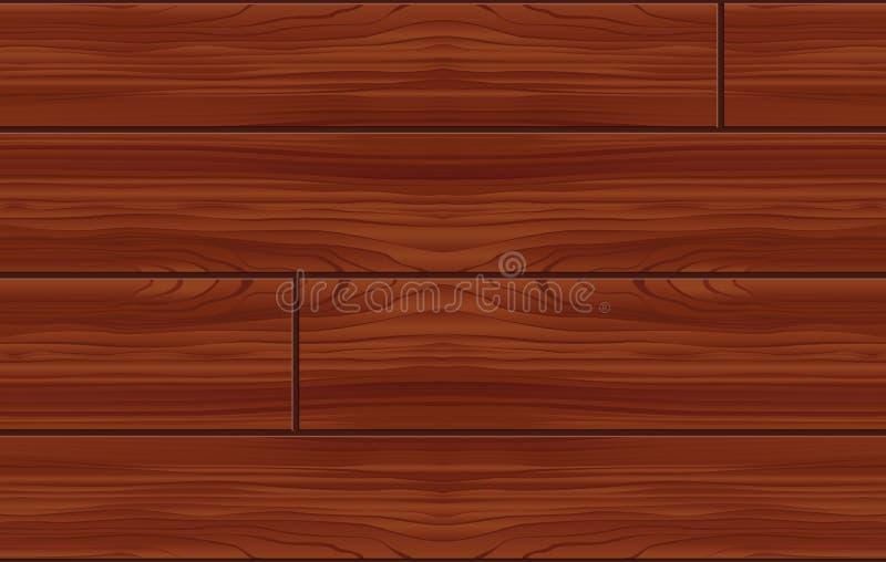 Teste padrão de madeira sem emenda (vetor) ilustração royalty free