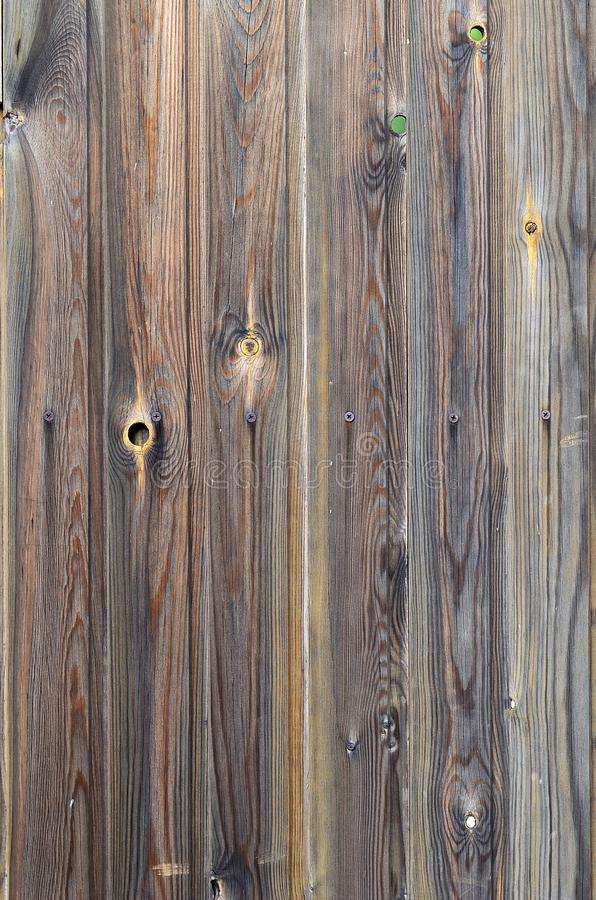 Teste padrão de madeira velho do painel do marrom escuro do grunge com textura abstrata bonita da superfície da grão, fundo listr imagens de stock royalty free