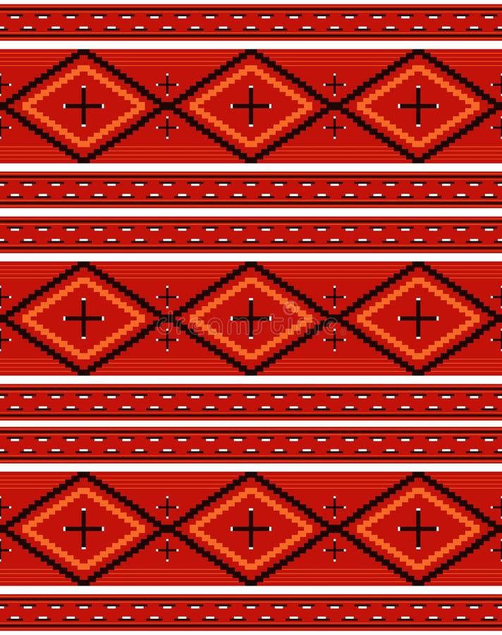 Teste padrão de matéria têxtil do Navajo ilustração do vetor