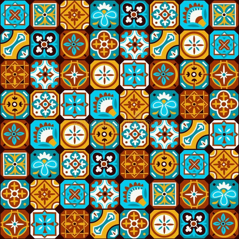 Teste padrão de mosaico árabe ilustração royalty free