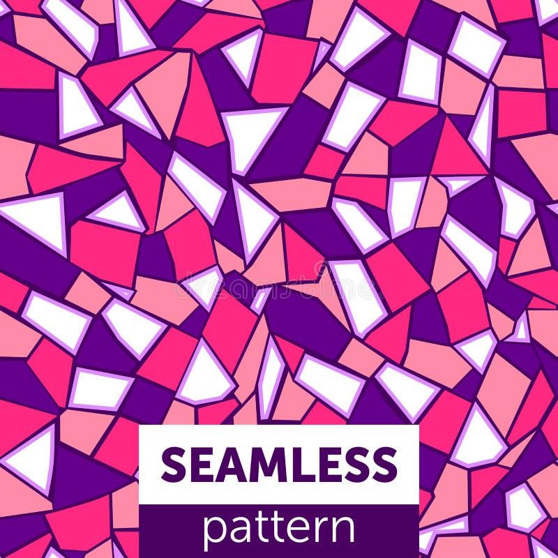 Teste padrão de mosaico abstrato sem emenda ilustração do vetor
