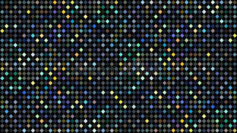 Teste padrão de mosaico amarelo verde azul holográfico dos pontos Fundo abstrato do disco do brilho ilustração royalty free