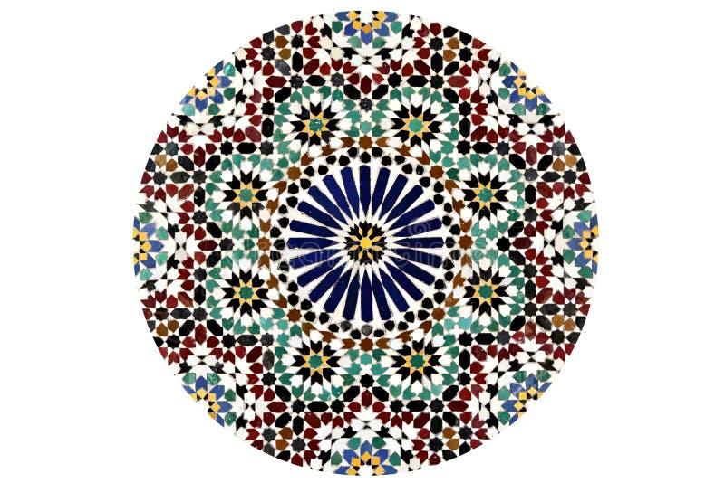 Teste padrão de mosaico do Arabesque fotos de stock royalty free