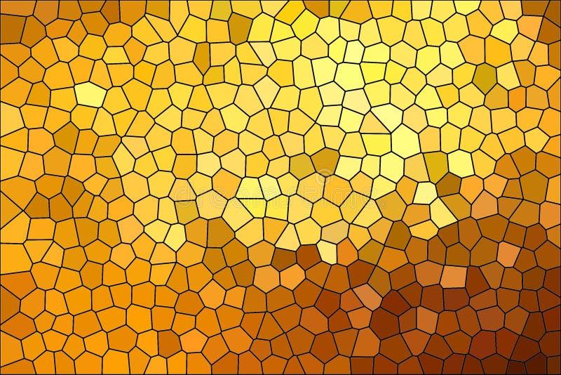 Teste padrão de mosaico dourado shinning dinâmico brilhante da textura, fundo abstrato criativo ilustração do vetor
