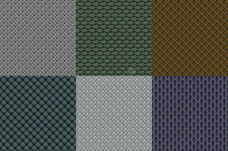 Teste padrão de mosaico geométrico ajustado da textura do triângulo, ilustração abstrata do fundo do vetor ilustração do vetor