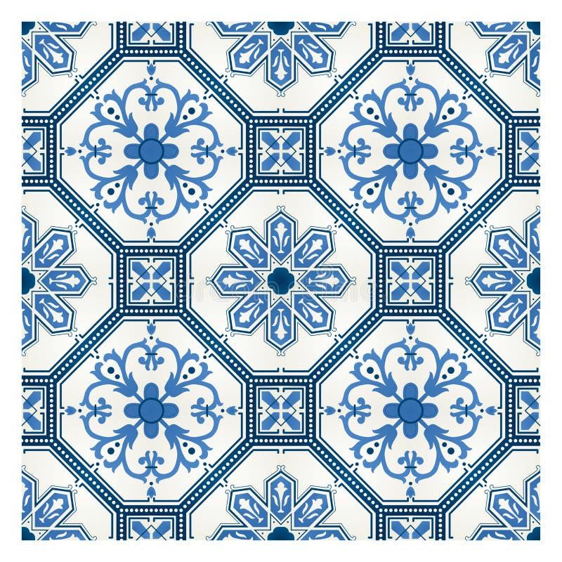 Teste padrão de mosaico lavrado ilustração royalty free