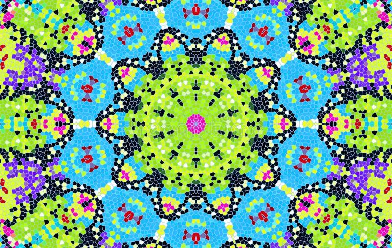 Teste padrão de mosaico multi-colorido brilhante ilustração royalty free
