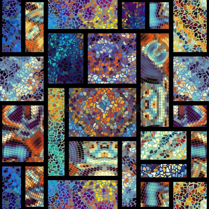 Teste padrão de mosaico sem emenda ilustração royalty free