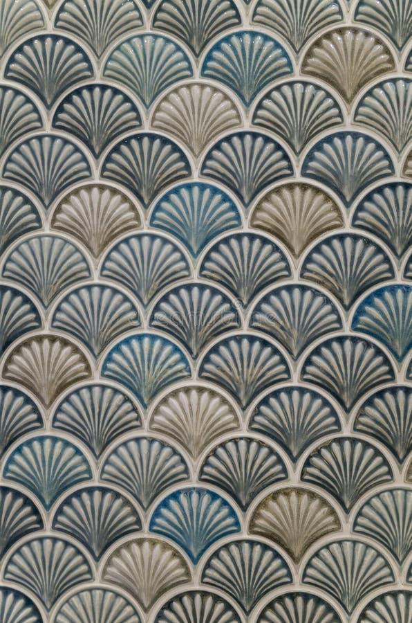 Teste padrão de mosaico de Shell fotos de stock royalty free