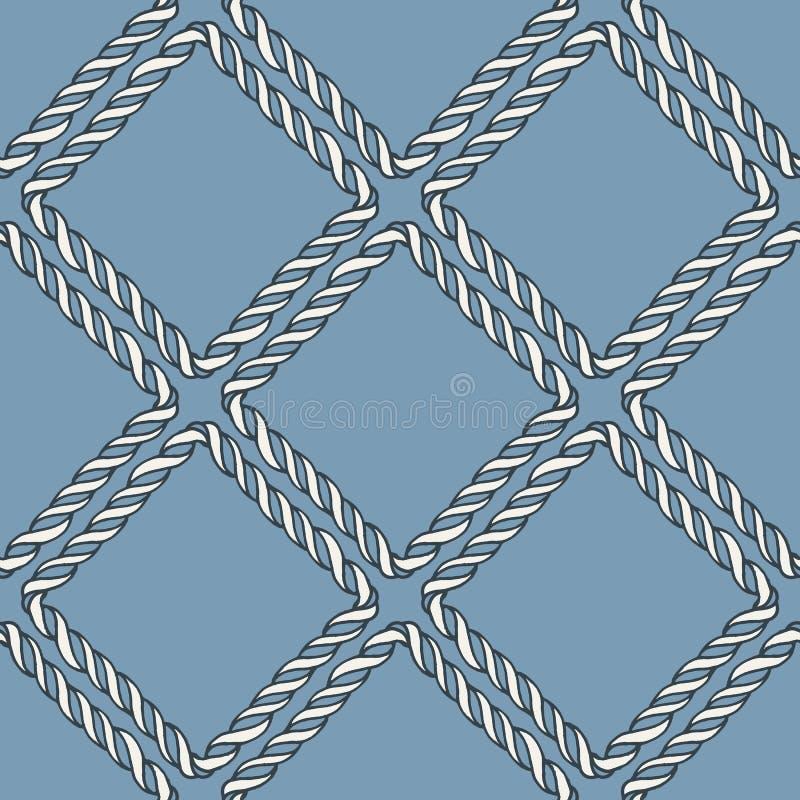 Teste padrão de nó náutico sem emenda da corda ilustração stock