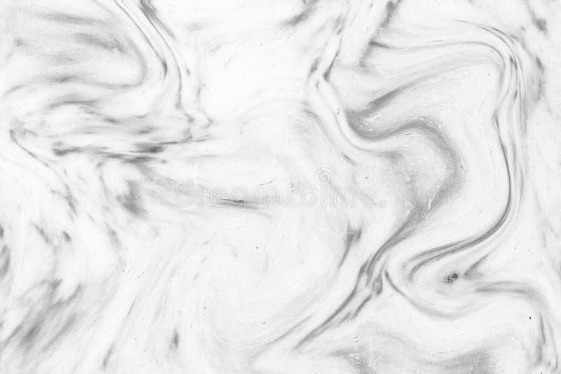 Teste padrão de onda acrílico abstrato, fundo de mármore branco da textura da tinta imagens de stock royalty free