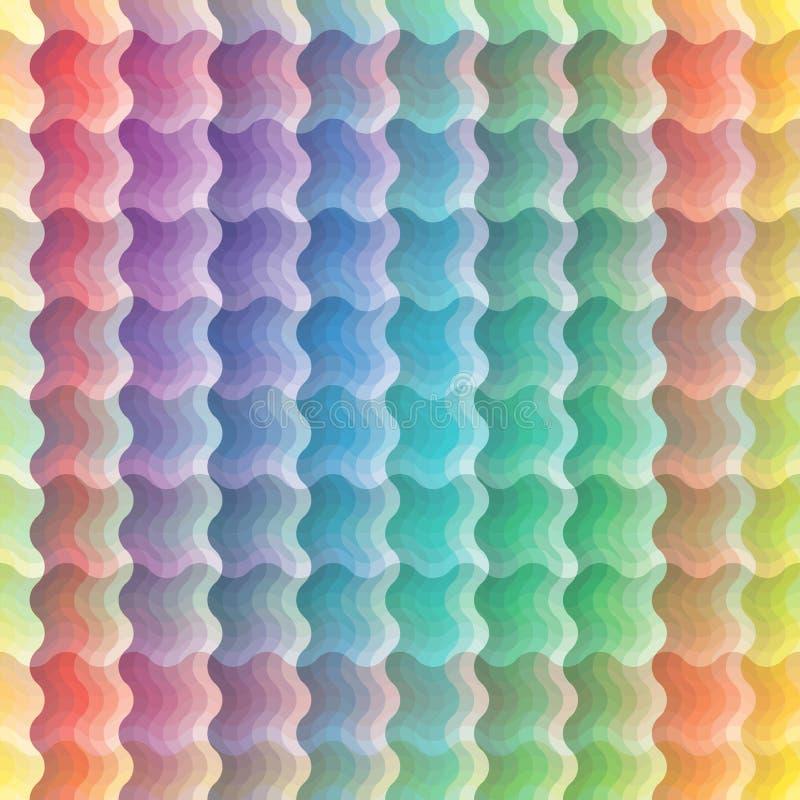 Teste padrão de onda vívido sem emenda ilustração do vetor