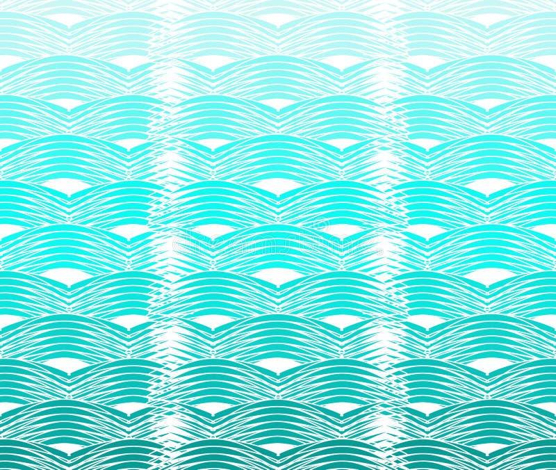 Teste padrão de ondas Curvy ilustração stock
