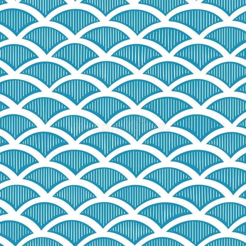 Teste padrão de ondas sem emenda ilustração do vetor