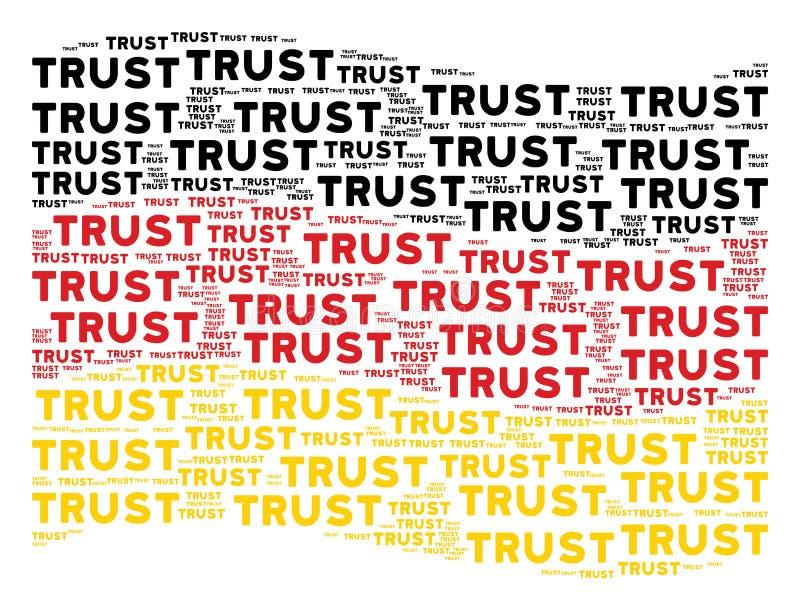Teste padrão de ondulação da bandeira de Alemanha de textos da confiança ilustração do vetor