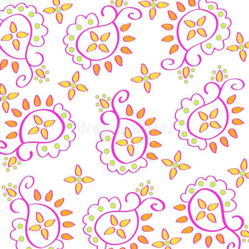 Teste padrão de Paisley ilustração royalty free