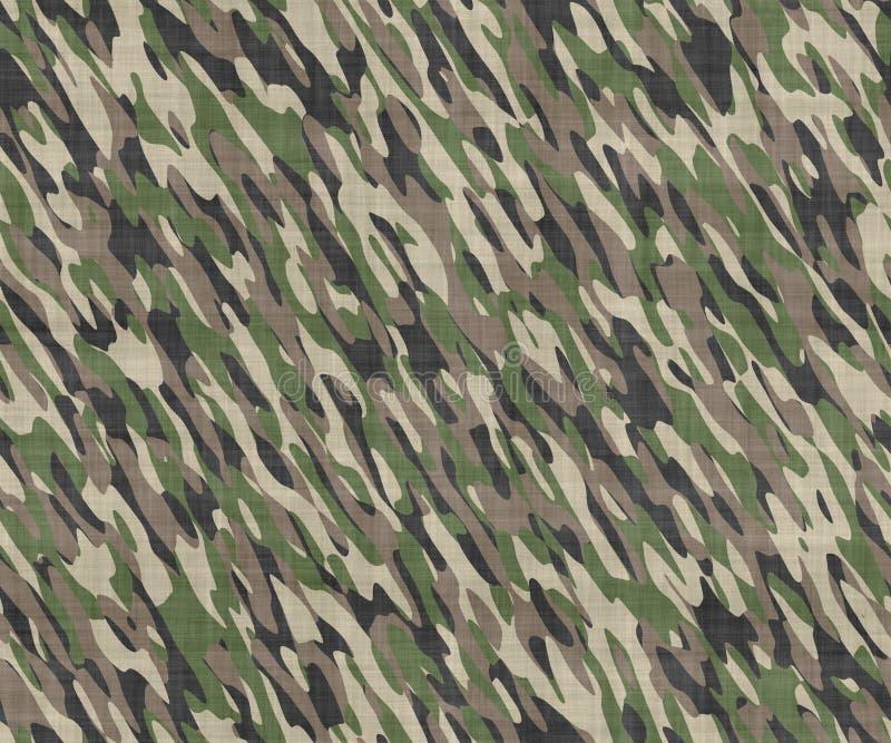 Teste padrão de pano camuflar ilustração do vetor