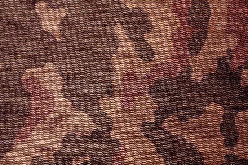 Teste padrão de pano da camuflagem do marrom de matéria têxtil ilustração royalty free