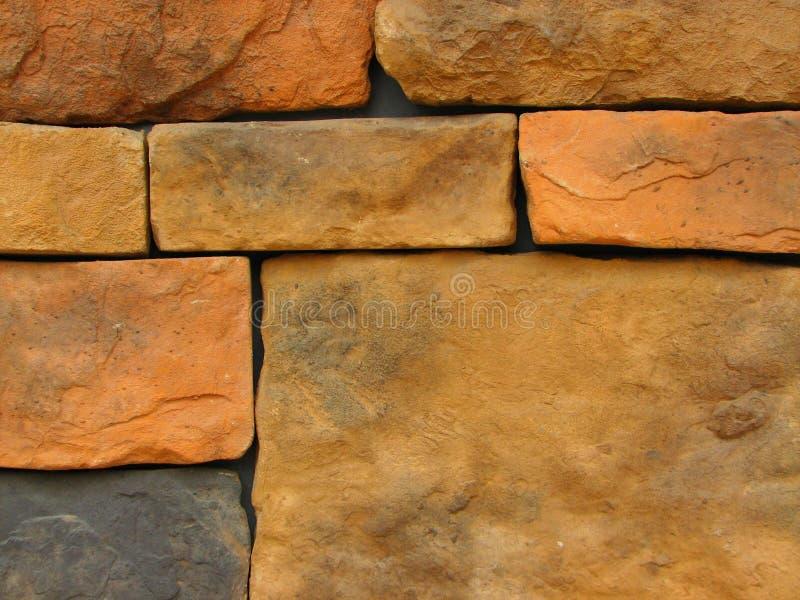 Teste padrão de pedra 11 da parede de tijolo foto de stock