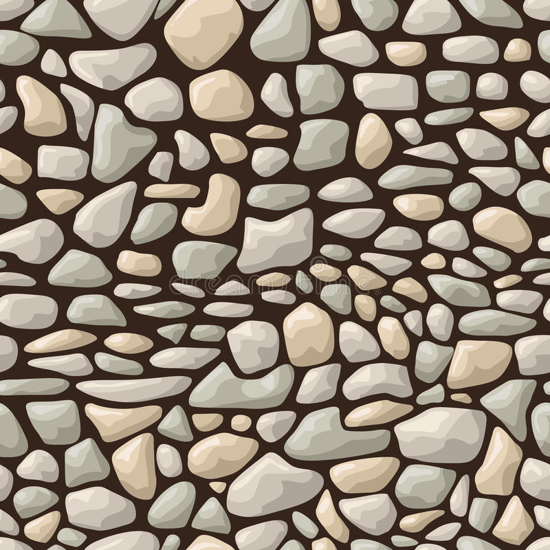 Teste padrão de pedra sem emenda ilustração do vetor