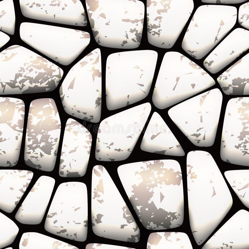 Teste padrão de pedra sem emenda ilustração stock