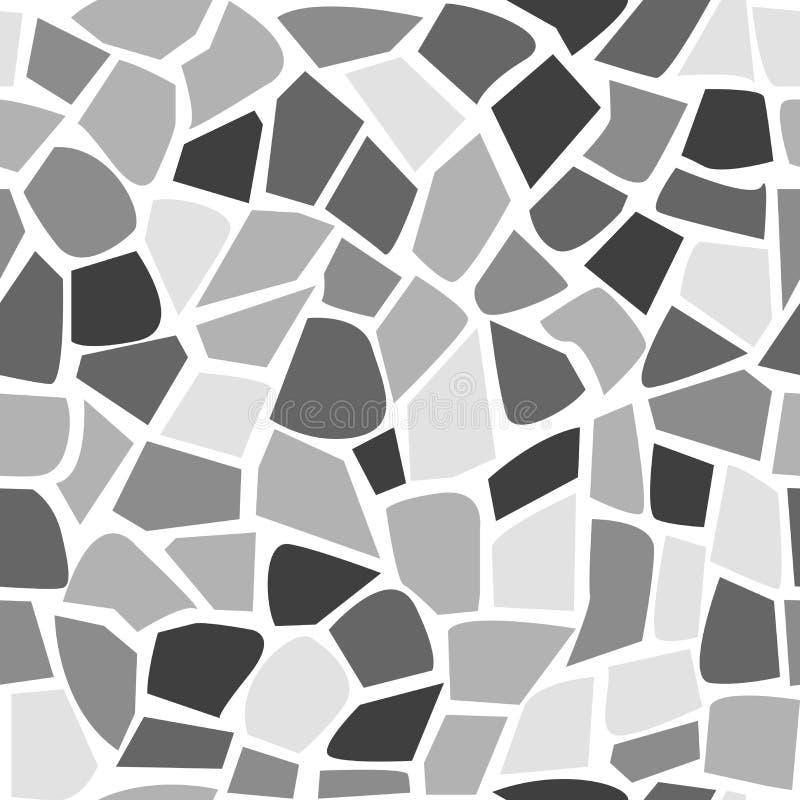 Teste padrão de pedra sem emenda abstrato do teste padrão de mosaico ilustração stock