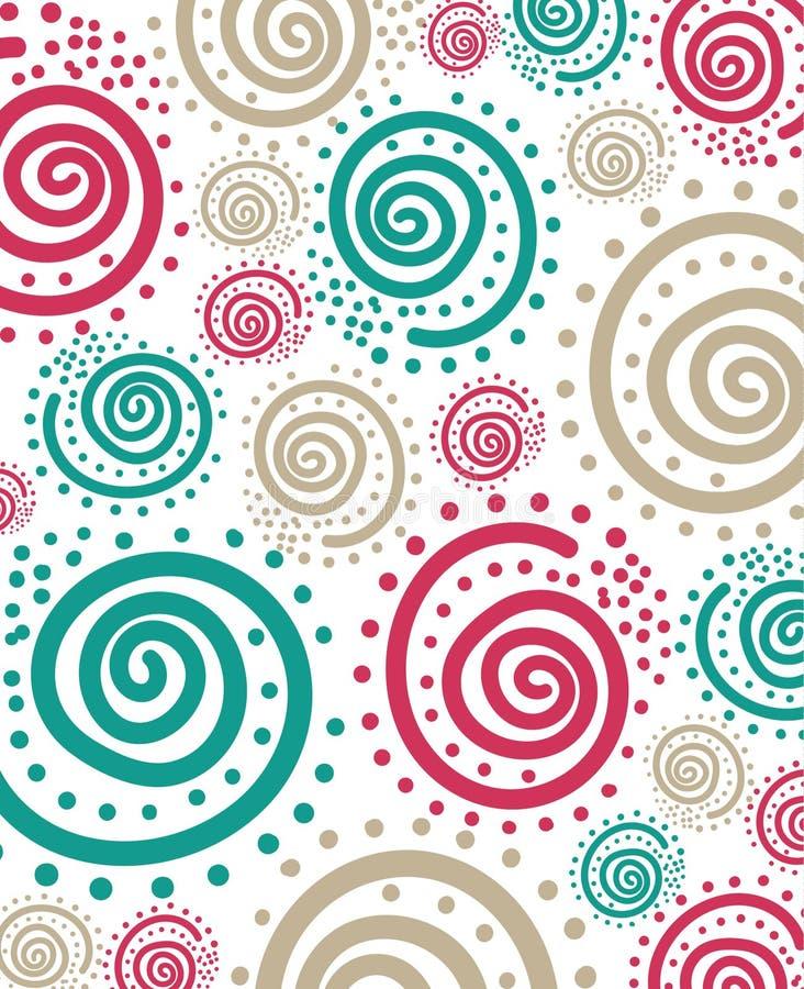 Teste padrão de ponto espiral abstraia o fundo ilustração stock