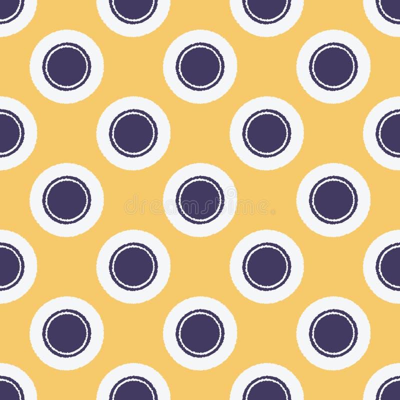 Teste padrão de pontos formado sem emenda do círculo ilustração do vetor
