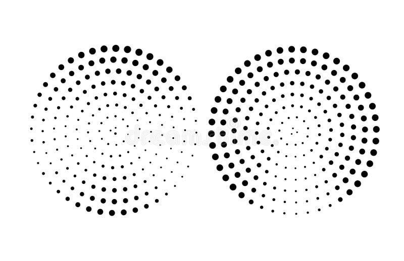 Teste padrão de pontos de intervalo mínimo da forma do círculo, elemento retro do fundo do estilo ilustração royalty free