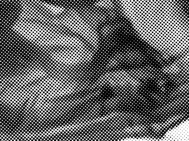 Teste padrão de pontos de intervalo mínimo Textura pontilhada reticulação do Grunge Dots Overlay Texture abstrato ilustração do vetor