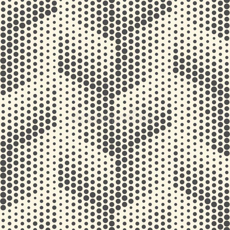 Teste padrão de pontos sem emenda Backgro de intervalo mínimo preto e branco abstrato ilustração stock