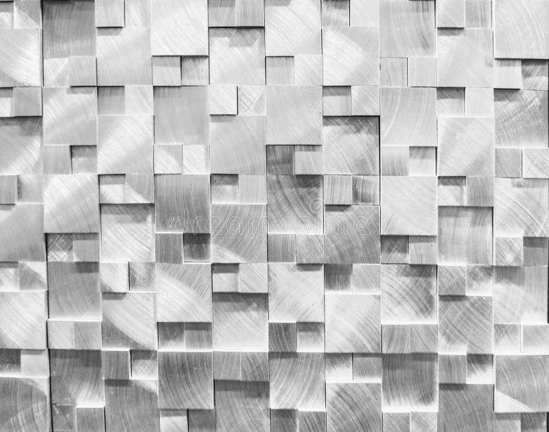 teste padrão de prata da telha 3D imagens de stock