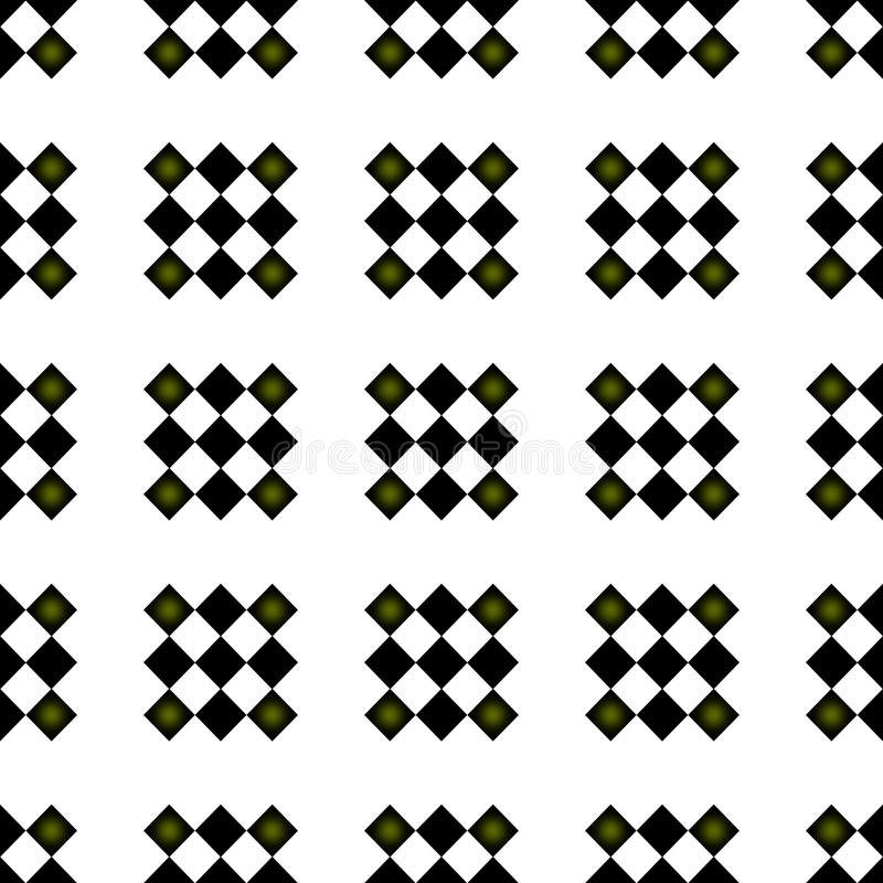 Teste padrão de repetição Checkered sem emenda formal ilustração do vetor
