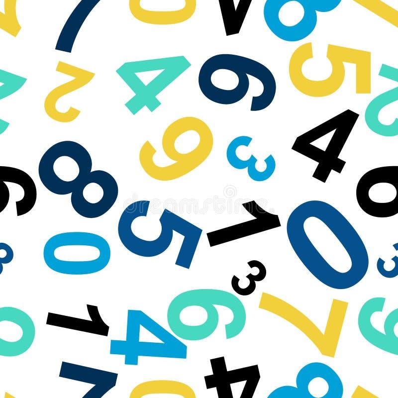 Teste padrão de repetição sem emenda que consiste nos números Vetor ilustração do vetor