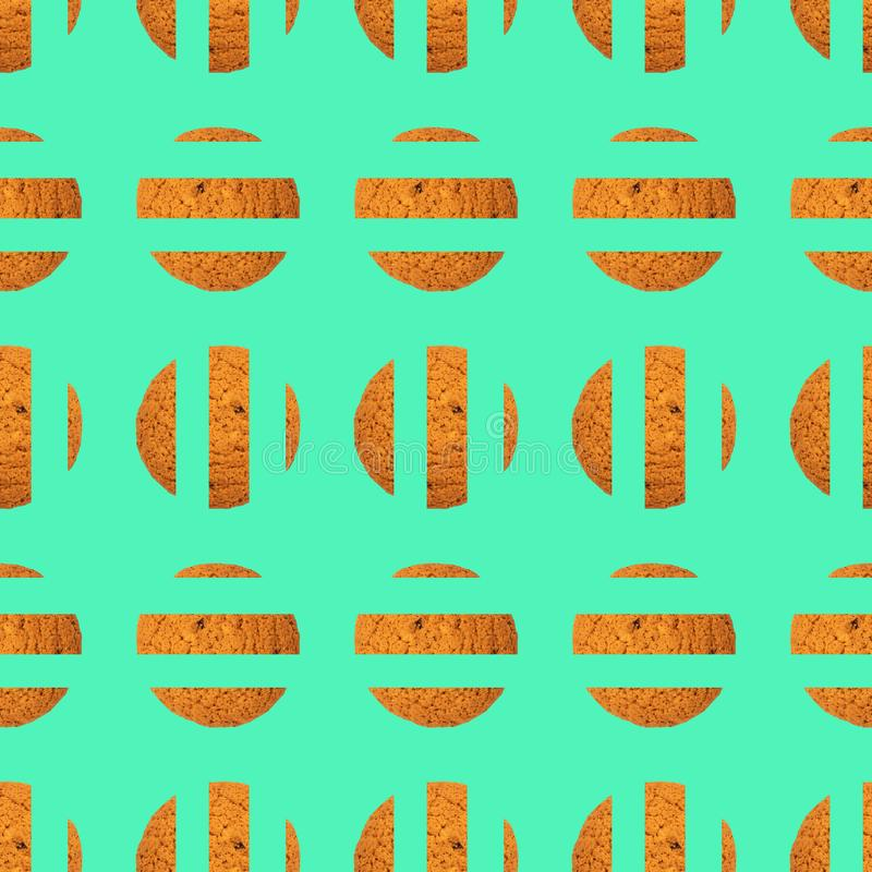 Teste padrão de repetição sseamless do sumário das cookies fotografia de stock royalty free